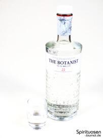 The Botanist Islay Dry Gin Glas und Flasche