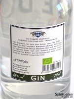 The Duke Munich Dry Gin Rückseite Etikett