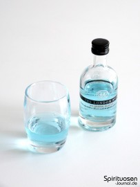 The London No.1 Original Blue Gin Glas und Flasche