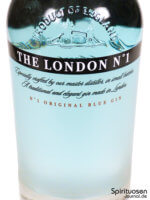 The London No.1 Original Blue Gin Vorderseite Etikett