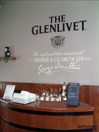 Höhere Qualitäten im Glenlivet-Tastingraum