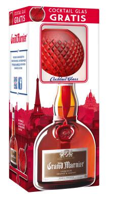 Grand Marnier ab Oktober mit gratis Cocktail-Glas im On-Pack
