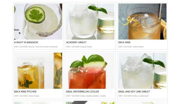 Cocktails mit Grey Goose