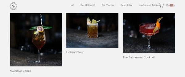 Cocktails mit Heiland Doppelbockliqueur