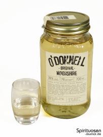 O'Donnell Moonshine Glas und Flasche