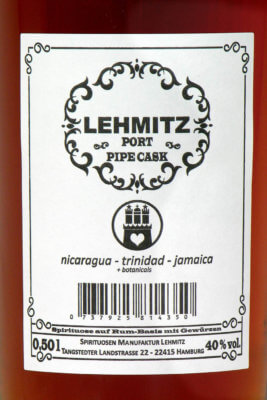Manufaktur Lehmitz präsentiert Port Pipe Cask Rum