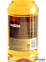 Drambuie Whiskylikör Rückseite Etikett