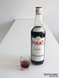 Pimm's No. 1 Glas und Flasche