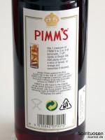 Pimm's No. 1 Rückseite Etikett