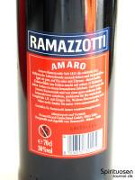 Ramazzotti Amaro Rückseite Etikett