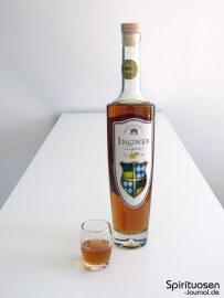 The Duke - Max & Daniel's Ingwer Liqueur Glas und Flasche