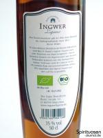 The Duke - Max & Daniel's Ingwer Liqueur Rückseite Etikett