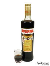 Averna Amaro Siciliano Glas und Flasche