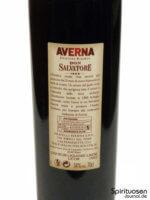 Averna Edizione Riserva di Don Salvatore Rückseite Etikett