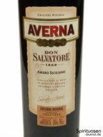Averna Edizione Riserva di Don Salvatore Vorderseite Etikett