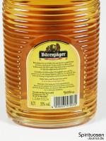Bärenjäger Honiglikör Rückseite Etikett