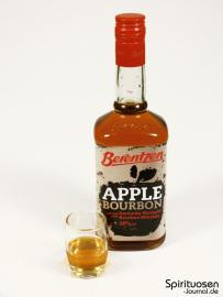 Berentzen Apple Bourbon Glas und Flasche