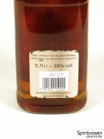 Berentzen Apple Bourbon Rückseite Etikett