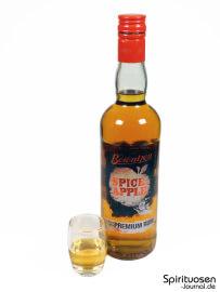 Berentzen SpiceApple Glas und Flasche