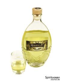 Gingercuja Glas und Flasche