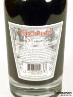 HirschRudel Kräuterlikör Rückseite Etikett