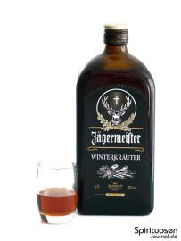 Jägermeister Winterkräuter Glas und Flasche