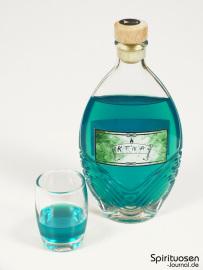 Katinja Glas und Flasche
