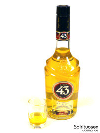 Licor 43 Cuarenta y Tres Glas und Flasche