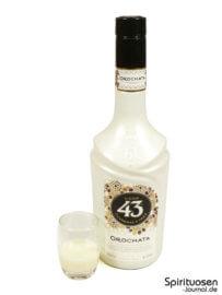 Licor 43 Orochata Glas und Flasche