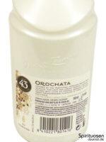Licor 43 Orochata Rückseite Etikett