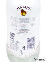 Malibu Rum Rückseite Etikett