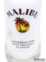 Malibu Rum Vorderseite Etikett