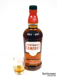 Southern Comfort Glas und Flasche