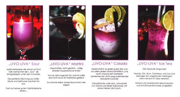 Beispiel-Cocktails für Livo-Liva