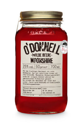 O'Donnell Moonshine mit 'Wilde Beere'-Sonderedition