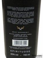 Black Forêt Fine Spirit Rückseite Etikett