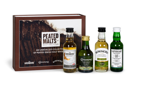 Peated Malts of Distinction - Vierteiliges Probier-Set zu Weihnachten