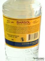 Barsol Pisco Selecto Acholado Rückseite Etikett