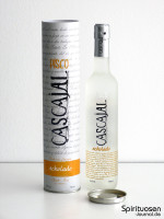 Cascajal Pisco Acholado Verpackung und Flasche