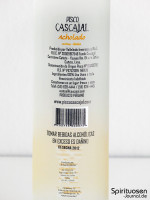 Cascajal Pisco Acholado Rückseite Etikett