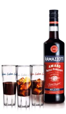 Ramazzotti Amaro mit Glas im On-Pack verfügbar