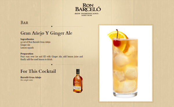 Ron Barcelo Gran Anejo mit Ginger Ale