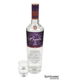 Banks 5 Island Rum Glas und Flasche