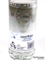 Captain Morgan White Rum Rückseite Etikett