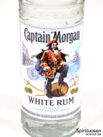 Captain Morgan White Rum Vorderseite Etikett