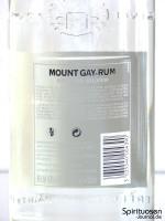 Mount Gay Eclipse Silver Rückseite Etikett