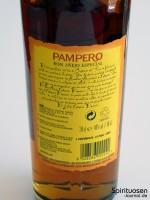 Pampero Ron Anejo Especial Rückseite Etikett