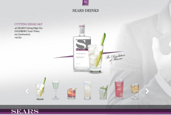 Drinks mit Sears Cutting Edge Gin
