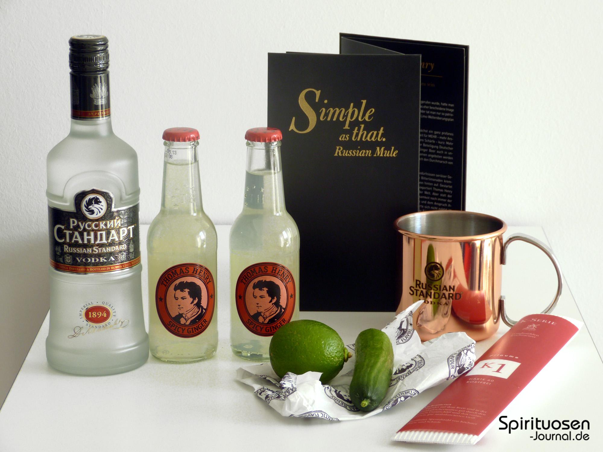 bericht russian standard vodka und thomas henry stellen. Black Bedroom Furniture Sets. Home Design Ideas