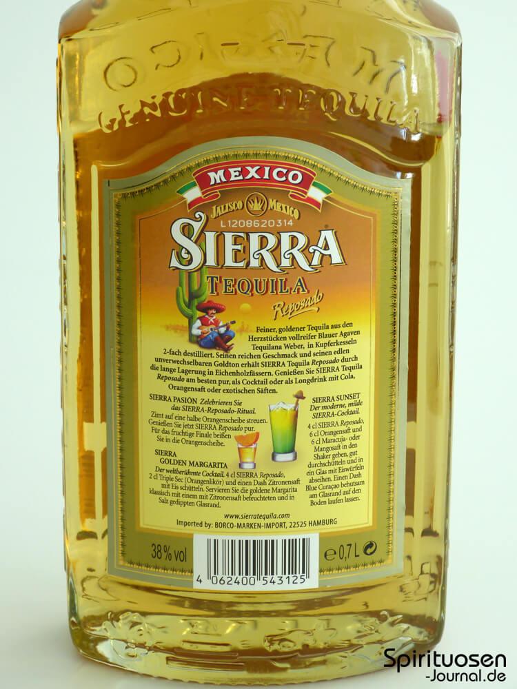 Test: Sierra Tequila Reposado - Spirituosen-Journal.de